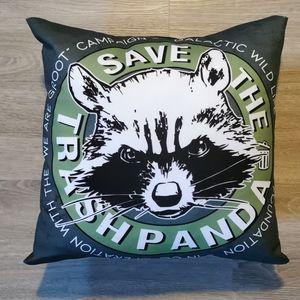 🌺 SALE 🌺 Save the Trash Panda Racoon Pillow
